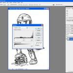 Tutoriel Photoshop - Fenêtre de modification des niveaux du Calque 0