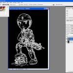 Tutoriel Photoshop - Sélection du dégradé de la couleur de premier plan vers arrière plan
