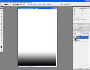 Tutoriel Photoshop - Le dégradé se retrouve appliqué sur la distance choisie