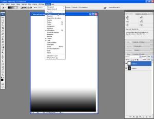 Tutoriel Photoshop - Le menu Fenêtres > Calques sert à afficher la fenêtre des calques