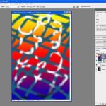 Tutoriel Photoshop - En réaffichant les 2 calques avec des masques, on voit mieux leurs transparences