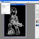 Tutoriel Photoshop - Dans le menu Sélection, nous cliquons sur l'option Tout sélectionner