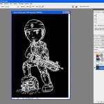 Tutoriel Photoshop - L'ensemble de l'image est entouré d'un cadre de sélection