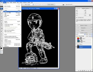 Tutoriel Photoshop - Dans le menu Sélection, nous cliquons sur l'option Copier