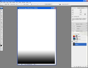 Tutoriel Photoshop - On cache le Calque 0 et on affiche le Calque 1