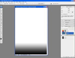 Tutoriel Photoshop - On clique sur le masque du calque Fond 1 pour le sélectionner