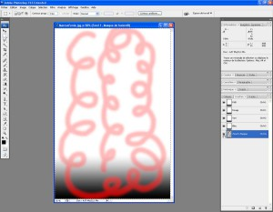 Tutoriel Photoshop - On clique sur le bouton en forme d'oeil pour afficher le tracé