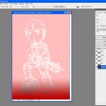 Tutoriel Photoshop - Les marques du pinceau sont également remplacées par le tracé du dessin