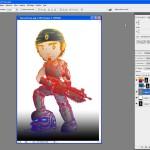 Tutoriel Photoshop - Un exemple de mise en couleur sur un calque placé juste sous les tracés