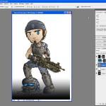 Tutoriel Photoshop - On peut peindre les contours dans des teintes un peu plus foncés du dessin
