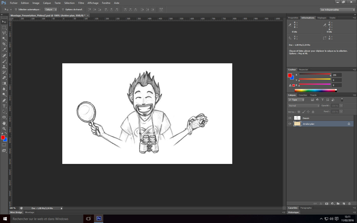 Tutoriel Photoshop - Affichage du dessin