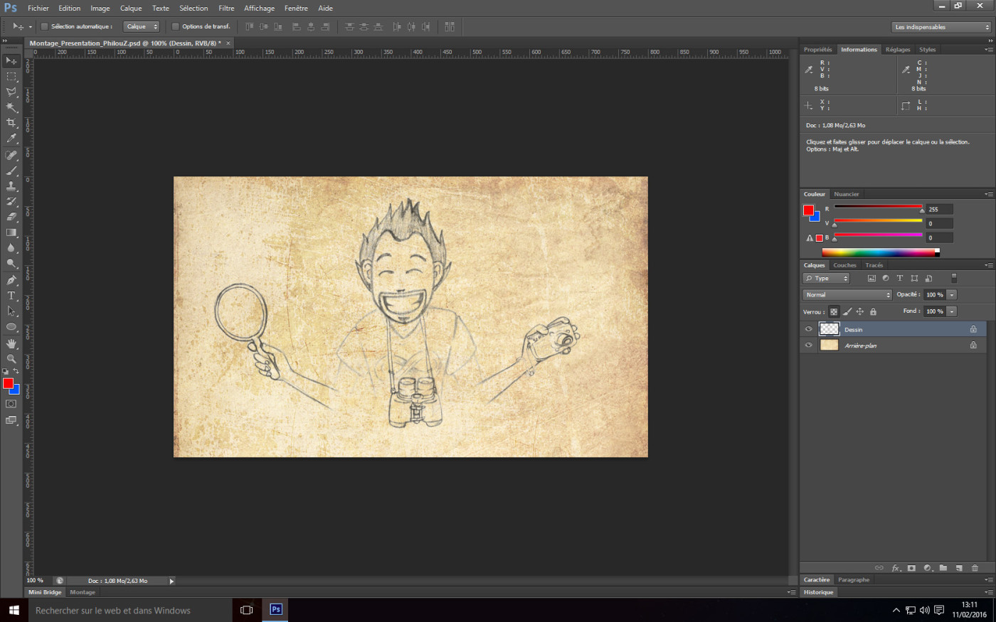 Tutoriel Photoshop - Verouillage des pixels transparents