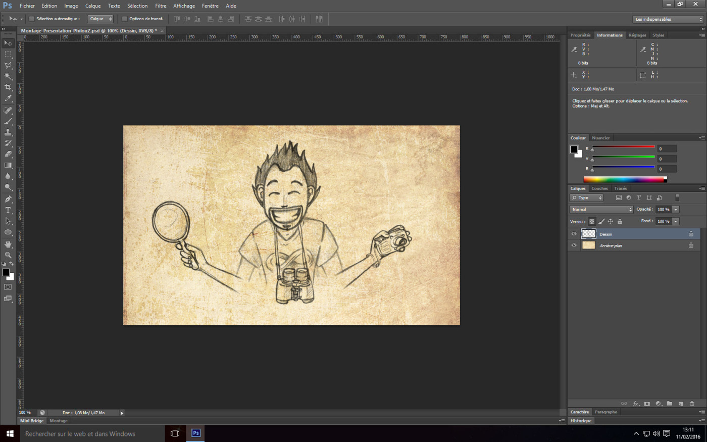 Tutoriel Photoshop - Dessin transparent finalisé